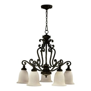 Quorum International 6386-5 Five Light Down Lighting Chandelier from the Alameda Collection