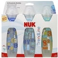 NUK TrendLine Orthodontic Bottles Silicone, Medium Flow (colors may vary) 3 ea - Thumbnail 0