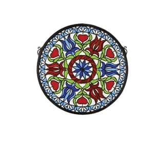 Meyda Tiffany 23284 Tiffany Round Stained Glass Medallion Window from the Hex Collection|https://ak1.ostkcdn.com/images/products/is/images/direct/55ce49dd7588c203c545fdedd57a78ca87f75e51/Meyda-Tiffany-23284-Tiffany-Round-Stained-Glass-Medallion-Window-from-the-Hex-Collection.jpg?impolicy=medium