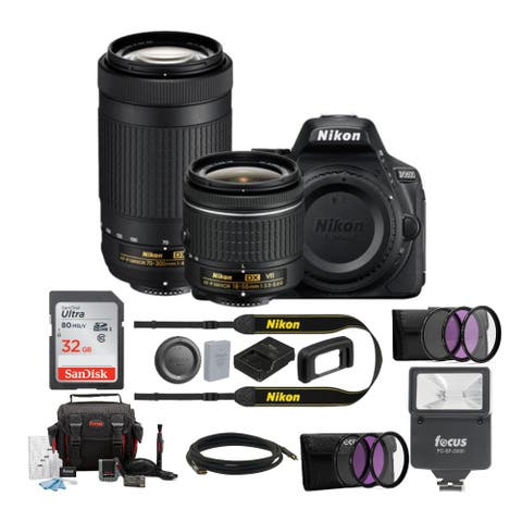 Nikon D5600 DSLR Camera with 18-55mm and 70-300mm Lenses & Card Bundle