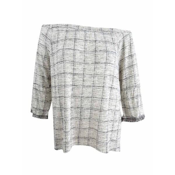 74971af7fed501 Shop Style   Co Women s Printed Off-The-Shoulder Top (L