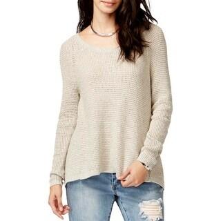 Rachel Rachel Roy Womens Pullover Sweater Metallic Flyaway