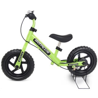 Goplus 12'' White Kids Balance Bike Children Boys & Girls with Brakes and Bell Exercise