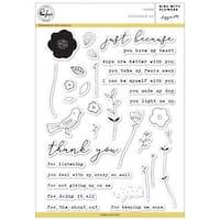 """Bird With Flower - Pinkfresh Studio Clear Stamp Set 6""""X8"""""""