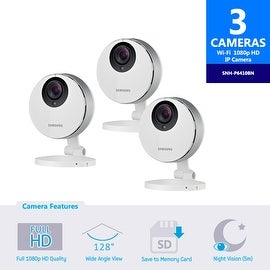 3 pack of SNH-P6410BN Samsung Smartcam Full HD Wifi 1080p IP Camera