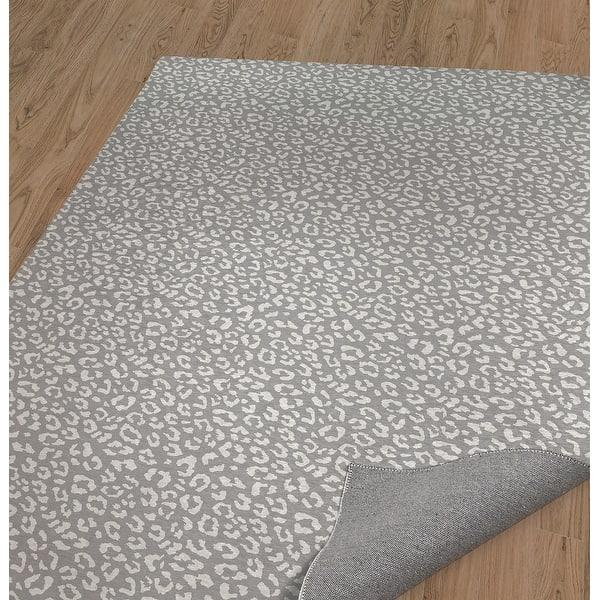 Leopard White On Grey Area Rug By Marina Gutierrez Overstock 31411021
