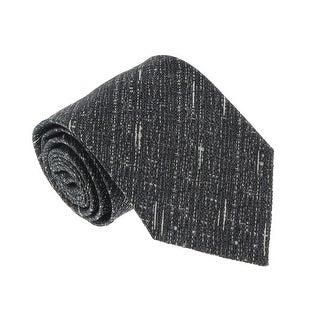 Missoni U4797 Gray/White Basketweave 100% Silk Tie - Grey - 60-3