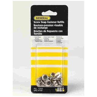 General Tools 1268 Canvas Screw-Snap Refill, Nickel Plated