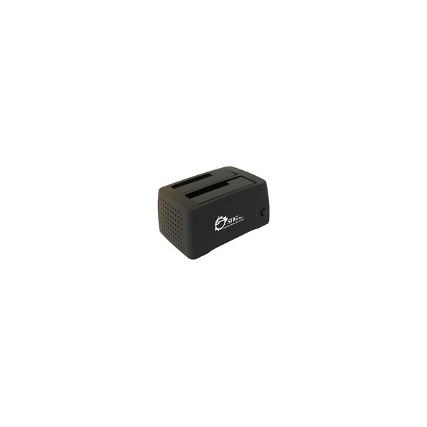 "SIIG SC-SA0412-S1 SIIG Cool Dual SATA to USB 2.0 Docking Station - 3.5"" - 1/3H Hot-swappable - External"