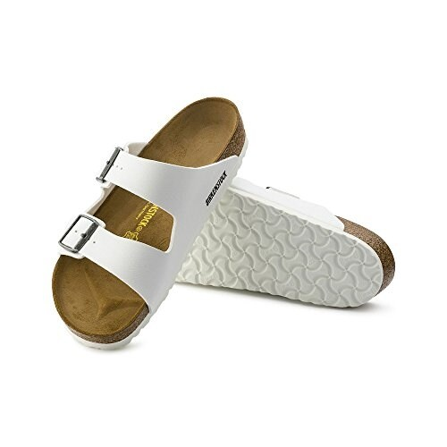 Birkenstock Women's Arizona White Birko flor Sandals 37 N EU (US Women 6 6.5)