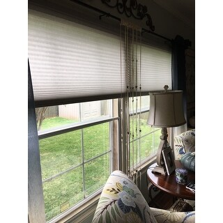 Arlo Blinds Grey Light Filtering Cordless Lift Cellular Shades