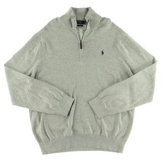 Polo Ralph Lauren Mens Pullover Sweater Half-Zip Long Sleeves - XxL
