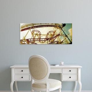 Easy Art Prints Panoramic Image 'Rollercoaster, Luna Park, Coney Island, Brooklyn, New York City, New York' Canvas Art