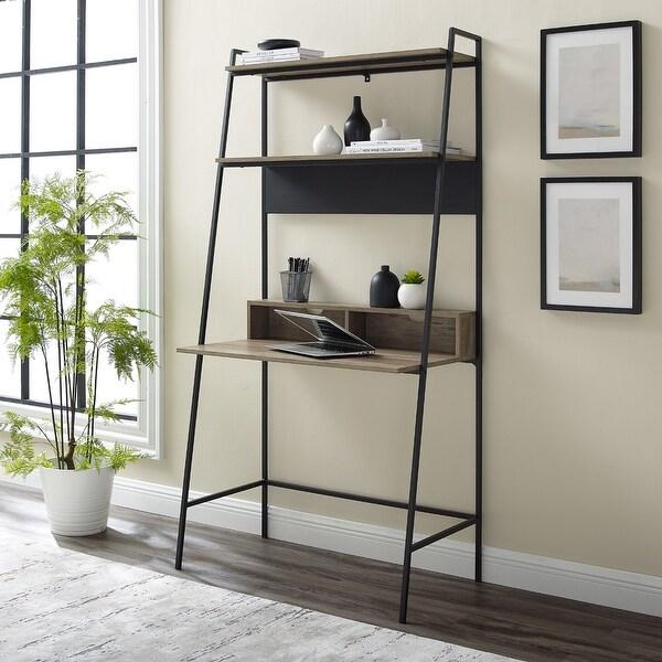 Carbon Loft Lahuri Metal Frame Ladder Shelf Desk. Opens flyout.