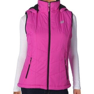 New Balance NEW Pink Womens Size Large L Comfort-Stretch Vest Jacket