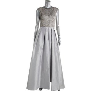 Aidan Mattox Womens Taffeta Embellished Evening Dress