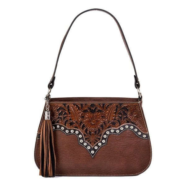 54674ab35fe63 Shop Blazin Roxx Western Handbag Womens Shoulder May Brown N7534102 - One  size - Free Shipping Today - Overstock.com - 15381905