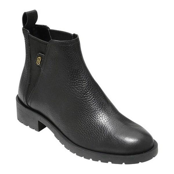 a8f53662a491 Cole Haan Women  x27 s Calandra II Waterproof Chelsea Boot Black Waterproof  Leather