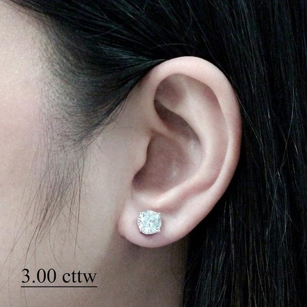 Shop Auriya 14k Gold 1ct To 3ctw Round Clarity Enhanced Diamond Stud Earrings On Sale Overstock 7599352
