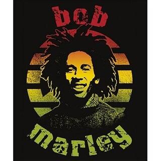 "Bob Marley Circle Micro Raschel 45""x60"" Fleece Throw Blanket - Multi"