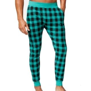 AMERICAN RAG NEW Launch Green Mens Size XL Thermal Checkered Pants