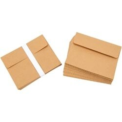 "Kraft - Heavyweight A2 Cards W/Envelopes (4.375""X5.75"") 50/Pkg"