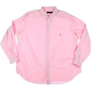 Ralph Lauren Mens Big & Tall Cotton Oxford Button-Down Shirt - 2xb