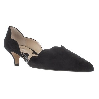 Adrienne Vittadini Serene Scallopped Kitten Pumps, Black