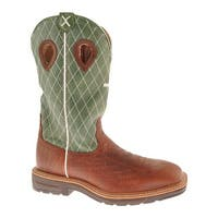 Twisted X Boots Men's MLCW002 Cognac Glazed Pebble/Lime Leather