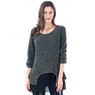 Mad Style Heathered Draped Pullover