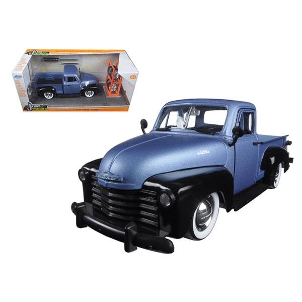 1953 Chevrolet Pickup Truck Blue/Black Just Trucks with Extra Wheels 1/24 Diecast Model by Jada
