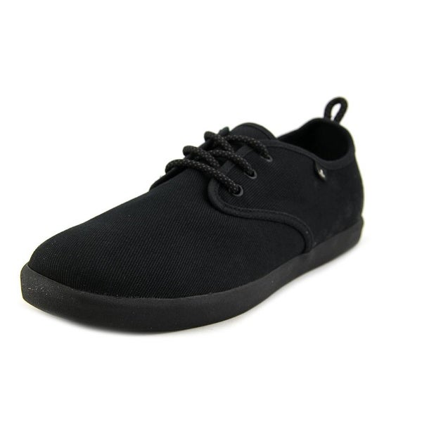 Sanuk Guide Men Round Toe Canvas Black Sneakers