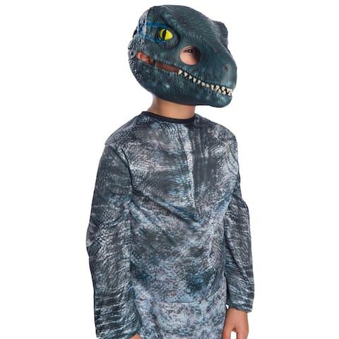 Kids Jurassic World Velociraptor Movable Jaw Halloween Mask - Standard - One Size
