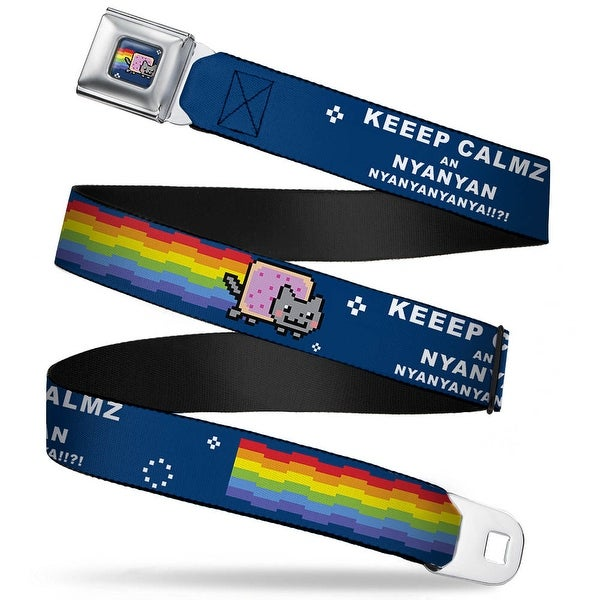 Nyan Cat Blue Full Color Keep Calm An Nyanyan Blue Webbing Seatbelt Belt Seatbelt Belt