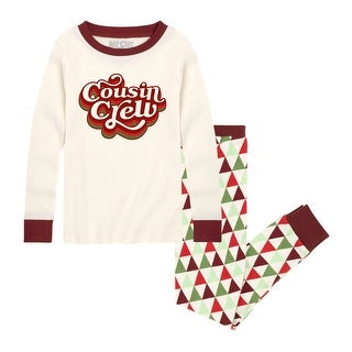 Link to Cousin Crew - Toddler Matching Family Christmas Pajama Set - Cream/Maroon Similar Items in Boys' Clothing