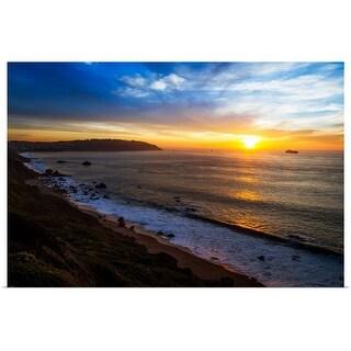 """""""Sunset at San Francisco Bay"""" Poster Print"""