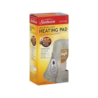 Sunbeam 828-511 Dual Sided Microplush Heating Pad - WHITE