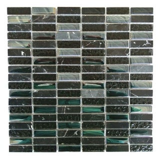 "Miseno MT-EARTH5/8RECT Earth - 5/8"" X 2"" - Glass Visual - Wall Tile (Sold by Sheet) - N/A"