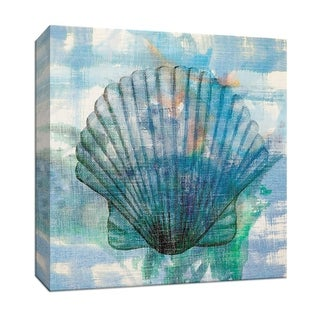 """PTM Images 9-146687  PTM Canvas Collection 12"""" x 12"""" - """"Watercolor Scallop"""" Giclee Nautical and Ocean Art Print on Canvas"""