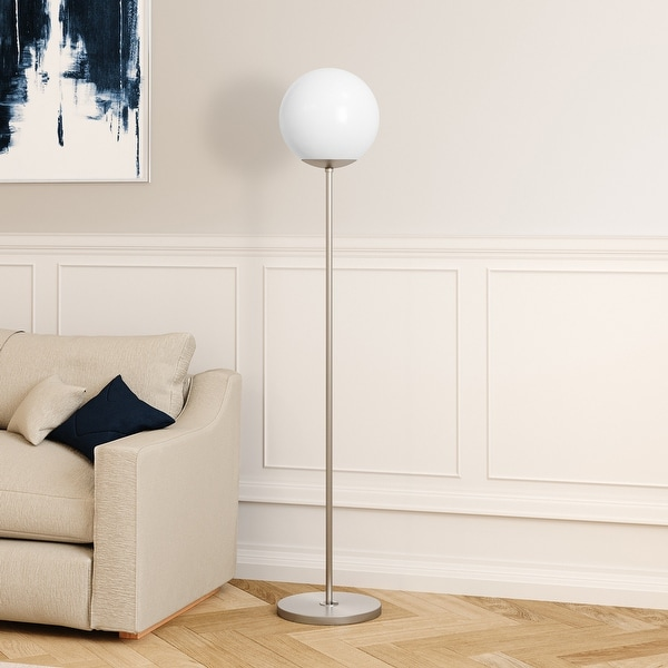 Theia Glam Modern Globe Shade Floor Lamp. Opens flyout.