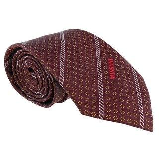 Missoni Micro Floral Marroone Woven 100% Silk Tie