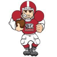 NCAA Alabama Crimson Tide Lighted Window Football Player #2631