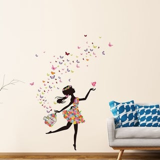 "Butterfly Flower Removable Wall Sticker Decal Mural Christmas Room Wallpaper 35.4""x23.6"""