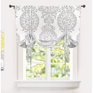 Link to The Curated Nomad Alameda Floral Medallion Pattern Printed Tie-up Shade Similar Items in Window Treatments