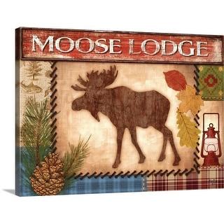 """""""Moose Lodge"""" Canvas Wall Art"""