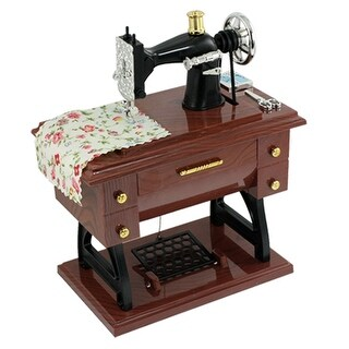 Wind-up Clockwork Simulation Mini Sewing Machine Shape Music Box for Children Kids