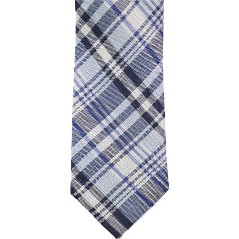 Tommy Hilfiger Mens Sunny Plaid Self-tied Necktie, blue, One Size - One Size
