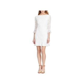 American Living Womens Cocktail Dress Lace Ruffles