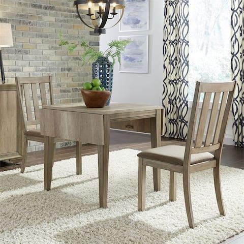 The Gray Barn Abbey Field Sandstone 3-piece Drop Leaf Table Set