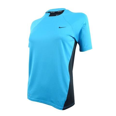 Nike Women's Short-Sleeve Dri-Fit Hydroguard - Light Blue Fury